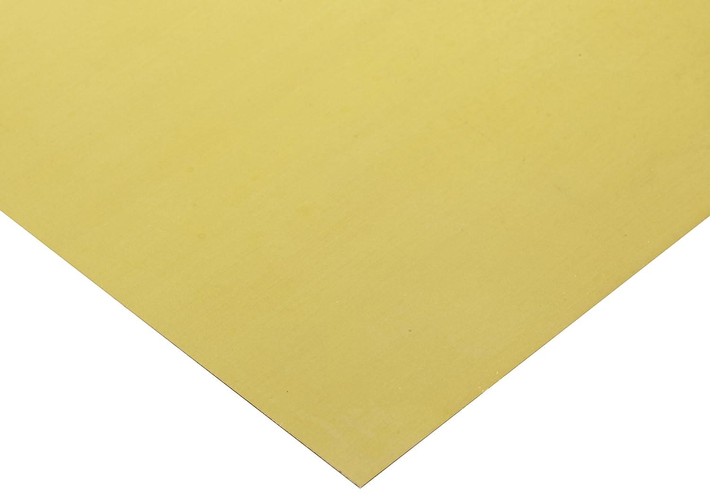 260 15cm x 10cm Brass Sheet 0.55 mm
