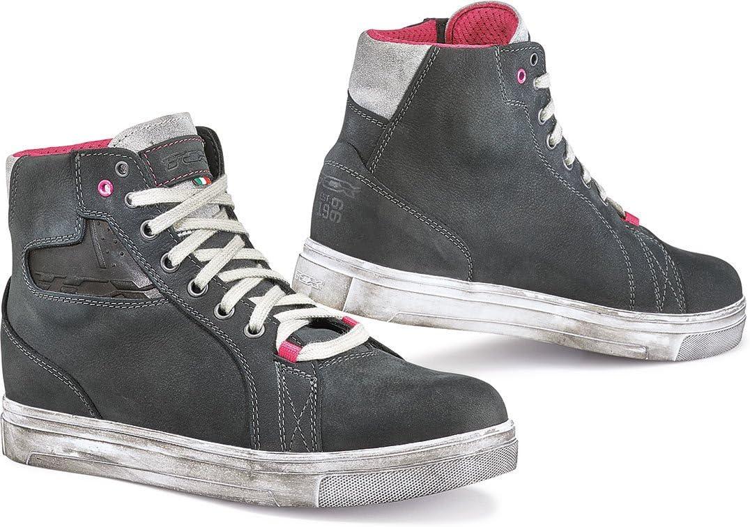 TCX Ace Denim Adult Street Motorcycle Shoes Blue Denim//EU 41 US 8