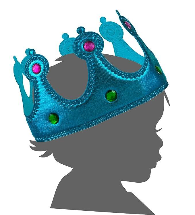 Amazon.com: tela Suave Youth Sized Jeweled Royal Crown, Azul ...