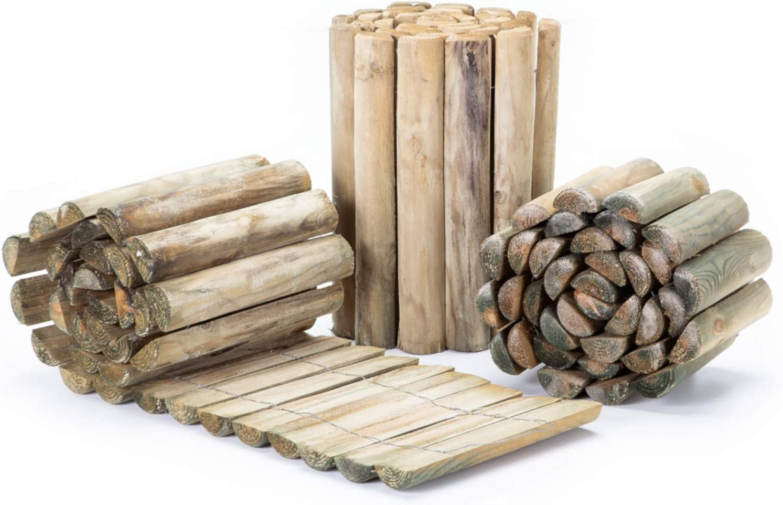BooGardi Rollborder aus Holz /• 3 Gr/ö/ßen /• als Rasenkante//Beeteinfassung oder Beetzaun 200, 30