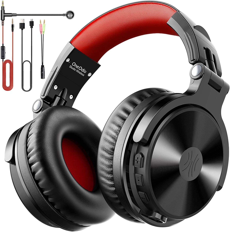 OneOdio Auriculares Bluetooth Over Ear Auriculares inalámbricos con micrófono Auriculares con Cable para Juegos con Cable,Sonido de Graves para iPad de teléfono Celular para PC