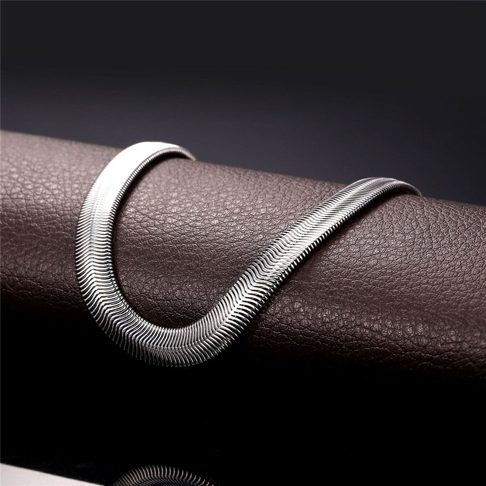 Stainless Steel Jewelry Men Women 8mm Soft Italian Snake Chain Necklace 18-30 18'' U7 Jewelry U7 GN2238-18