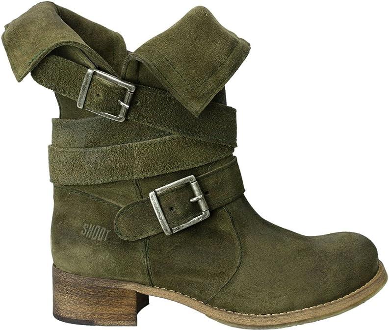 SHOOT Damen Stiefel Stiefeletten Gr 38 Schuhe Boots Leder