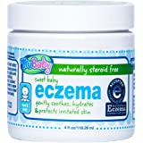 TruBaby Sweet Baby Eczema Cream - Soothing and Healing Relief Therapy for Sensitive Skin, Unscented, 4 oz
