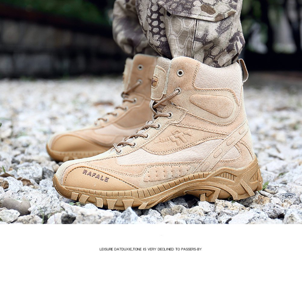 Men Hiking Boots High Top Trekking Shoes Non Slip Ankle Support Backpacking Walking Climbing Sneakers
