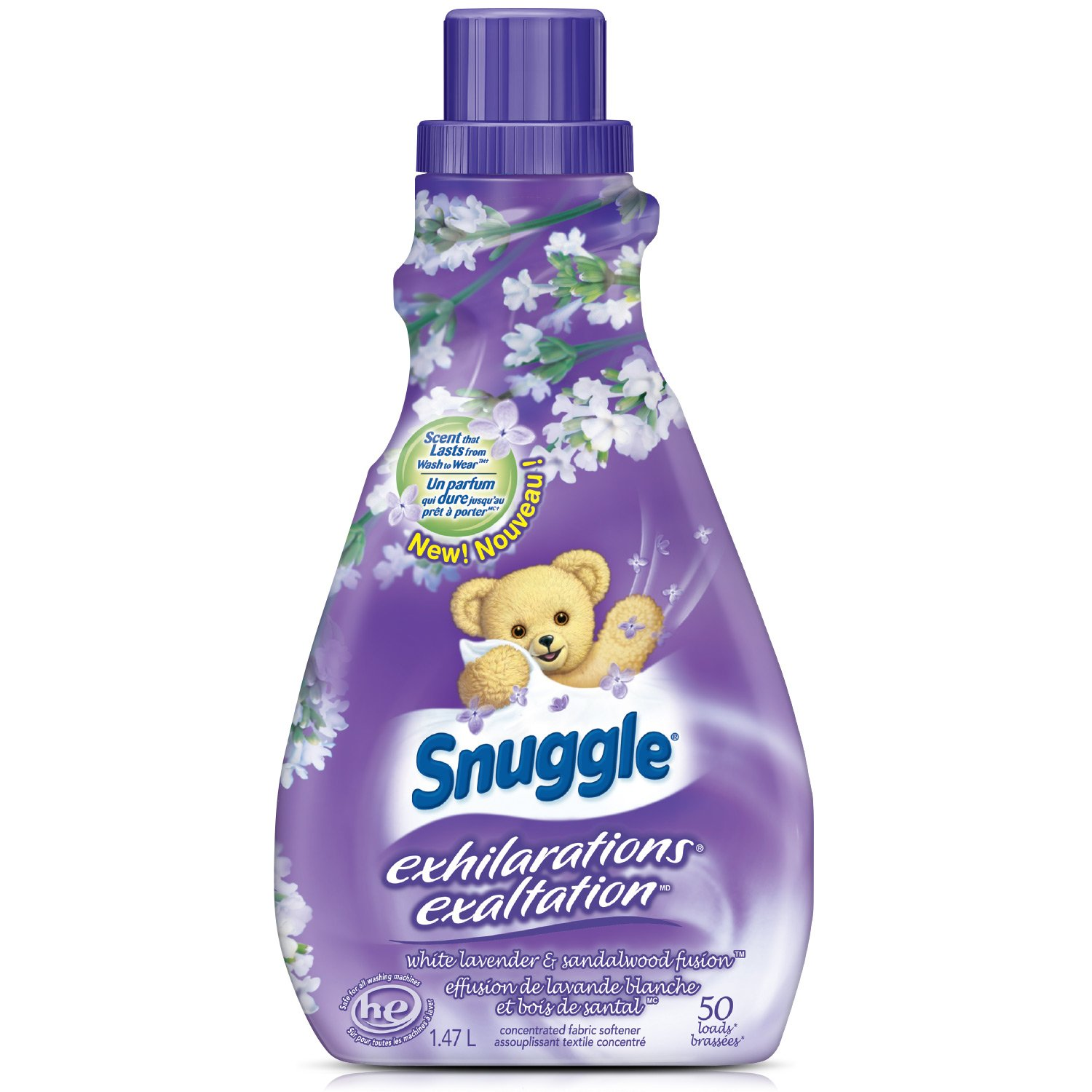 Amazon.com: Snuggle Exhilarations Liquid Fabric Softener, Blue Iris & Ocean Breeze, 50 Fluid Ounces: Health & Personal Care
