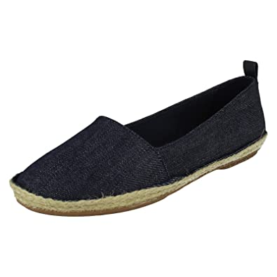 8faff970654 Clarks Womens Casual Clarks Clovelly Sun Textile Shoes In Denim Standard  Fit Size 6