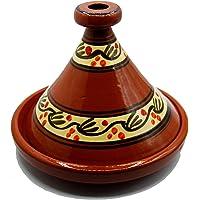 Etnico 1706191003 Tajine Tagine Casserole en Terre Cuite Couscous Plat marocain Arabe Artisanal Ø 35 cm XL