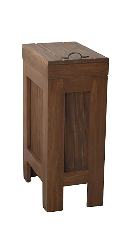Wood Wooden Trash Bin Kitchen Garbage Can 13 Gallon, Recycle Bin, Dog Food  Storage