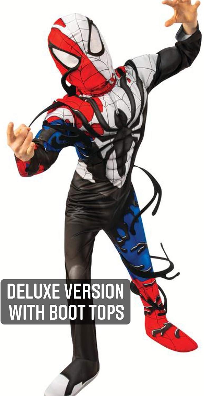 Marvel Venomized Spider-Man Muscle Chest Child Kids Halloween Costume