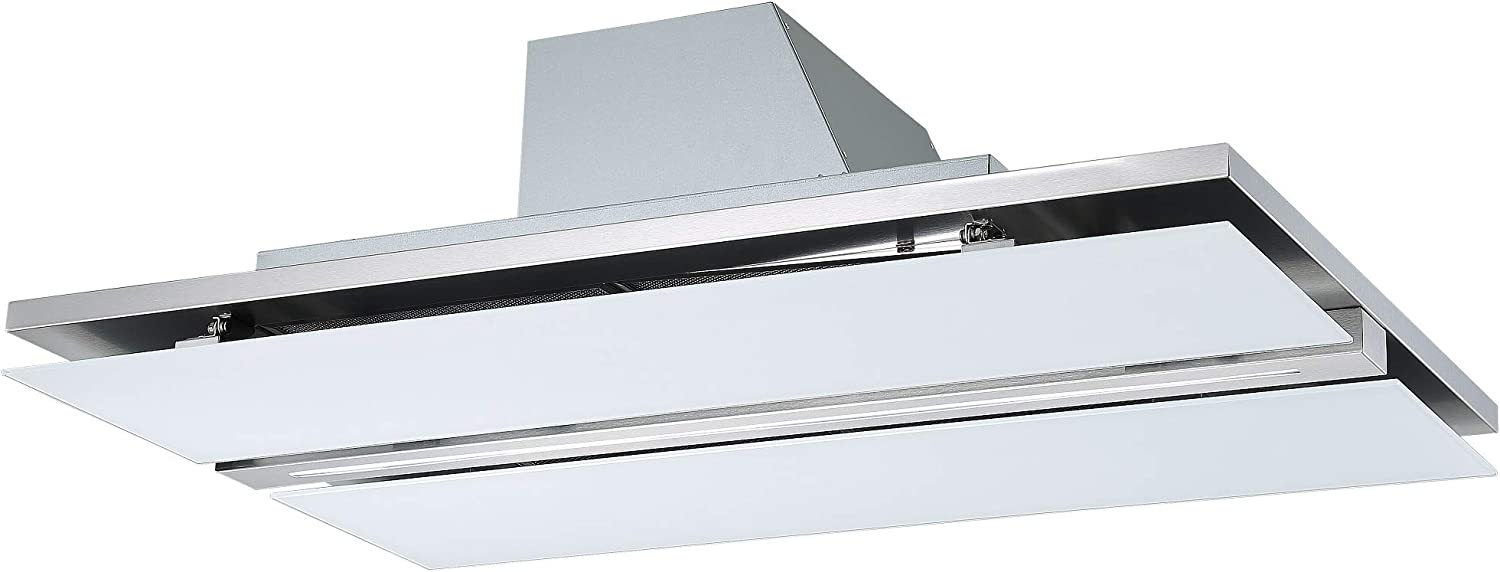 Cookology 100cm Ceiling Island Cooker Hood /& Extractor Fan Remote 100, White