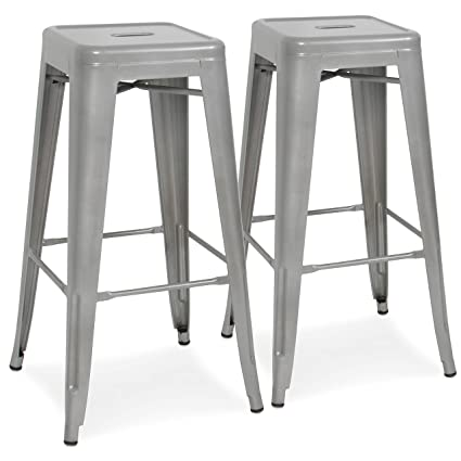 dd1c62fa4c82e Best Choice Products 30in Set of 2 Modern Industrial Backless Metal Counter  Height Bar Stools w