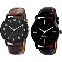 tw ticker Analogue Army and Professional Black Men's & Boy's Watch(Set of 2)