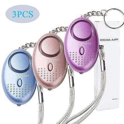 Paquete de 3 unidades de 140 dB de seguridad personal alarma ...