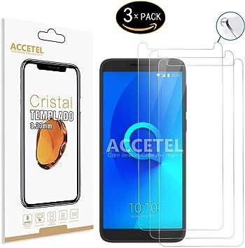 Protector de Pantalla Compatible con Alcatel 3 Protector Cristal Vidrio Templado para Alcatel 3 5.5 Pulgadas Transparente 3-Pack: Amazon.es: Electrónica