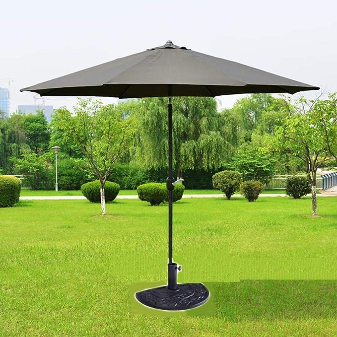 OOLOOYOO Base de sombrilla para Patio al Aire Libre, Mitad Redonda, Negra Soporte Negro: Amazon.es: Jardín