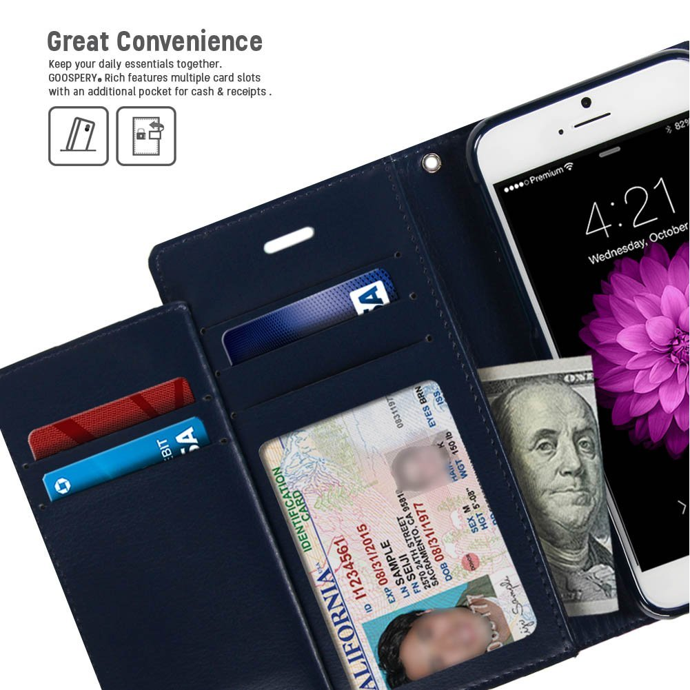 Iphone 6 Case Drop Protection Goospery Rich Diary 7 Blue Moon Hotpink Wallet Premium Soft Synthetic Leather Id Card Cash Slot Cover For Apple
