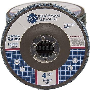 """50 Pack Flap Discs 60 Grit 4.5/"""" x 7//8/"""" Sanding Wheels"""