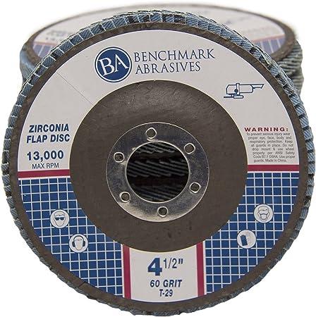 PACK 50 PREMIUM ZIRCONIA FLAP DISC SANDING GRINDING 4.5/'/'x7//8/'/' 80 GRIT