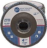 "4.5"" x 7/8"" Premium Zirconia Flap Disc Grinding Wheel 60 Grit Type 29-10 Pack"
