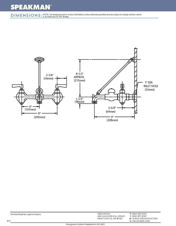 Polished Chrome Speakman SC-5812 Commander Service//Utility Sink Faucet