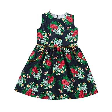 ba90235ca08532 feiXIANG kleinkind Minikleid Tanzkleidung baby kinder Röcke mädchen blume  prinzessinnenkleid strand sommerkleid kleidung Rock Baby Sommer