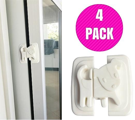 katabird bebé Armario de seguridad Locks, fácil de instalar - 4 Count - Cierres de seguridad para niños mejor para bebé Proofing gabinetes, puerta corredera ...