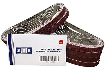 10 Schleifbänder Schleifband 13x457 mm Körnung P40 für Black/&Decker Powerfeile