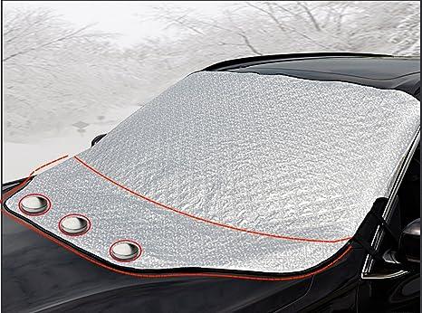 iZoeL Cubierta Parabrisas Magnéticas Protectoras de Parabrisas Protectoras del Hielo Sol Nieve 147cm*126cm para