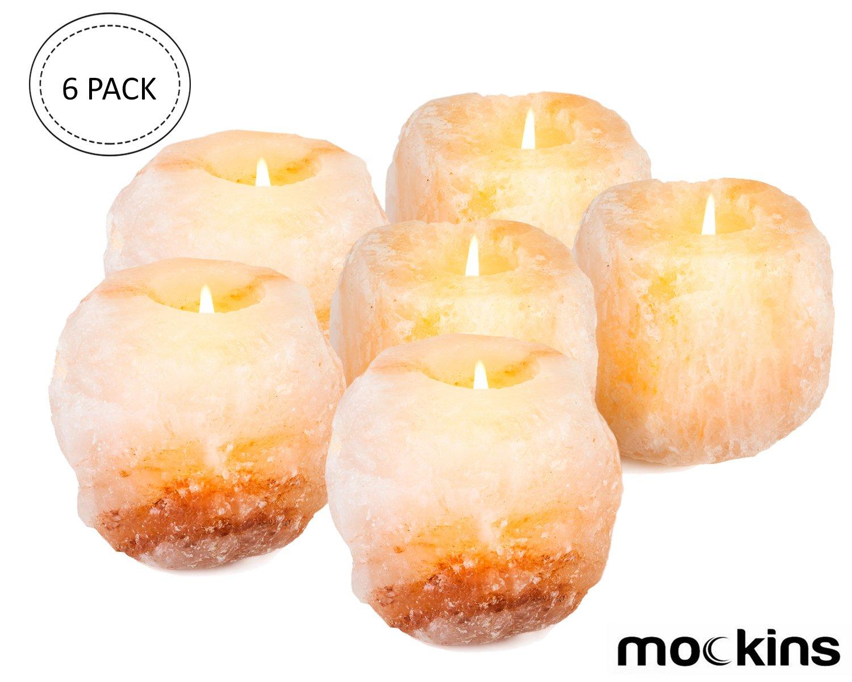 Mockins 6 Pack Natural Himalayan Salt 2.5-lbs Tea Light Holder … by Mockins (Image #1)