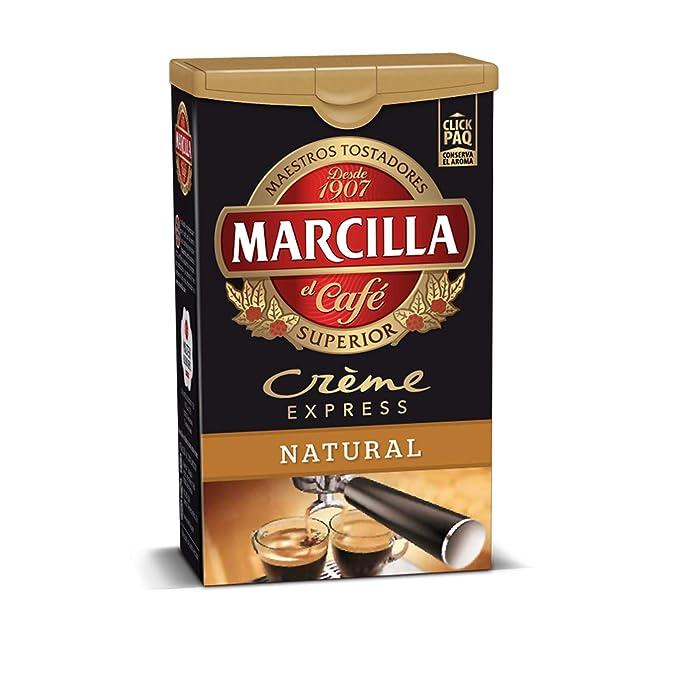 Marcilla - Crème Express - Café Molido Natural - 250 g - [Pack de 5