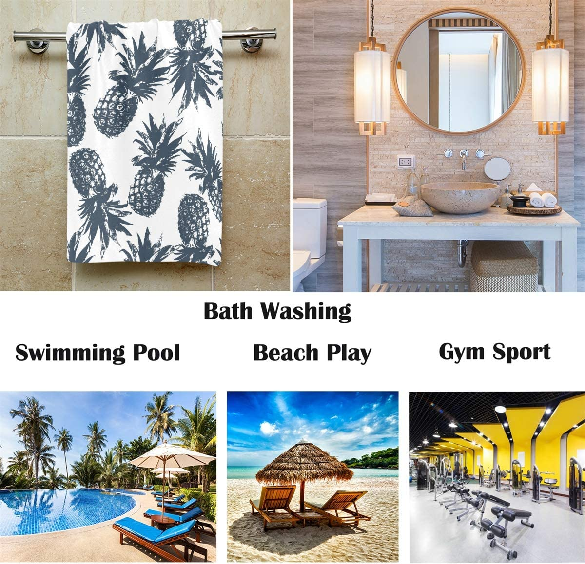 Ultra Soft Highly Absorbent Small Bath Towel Bathroom Decor African Girl Hand Towels 16x30 in Afro American Black Girls Listen Music Thin Bathroom Towel