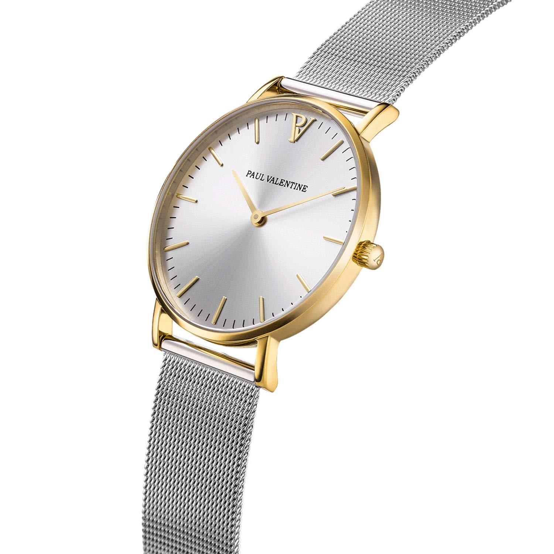 Paul Valentine PV38471 - Reloj de Pulsera para Mujer, Color Dorado y Plateado: Amazon.es: Relojes
