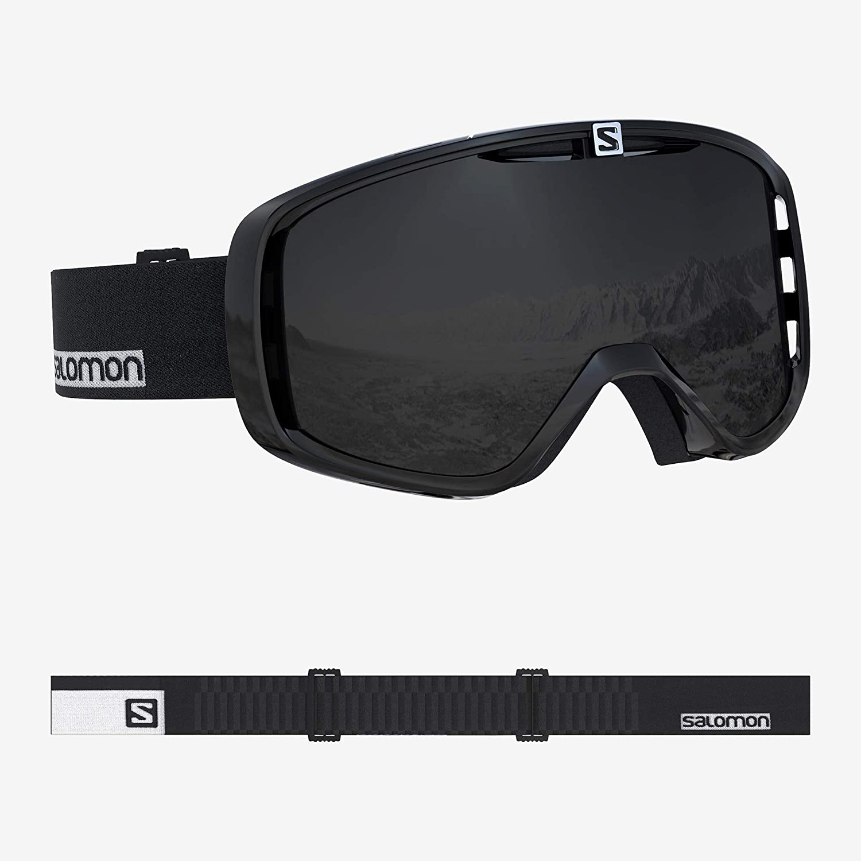 サロモン(SALOMON) スキー スノーボード ゴーグル 2019-20年モデル ユニセックス AKSIUM 黒-白い/黒 L40515800