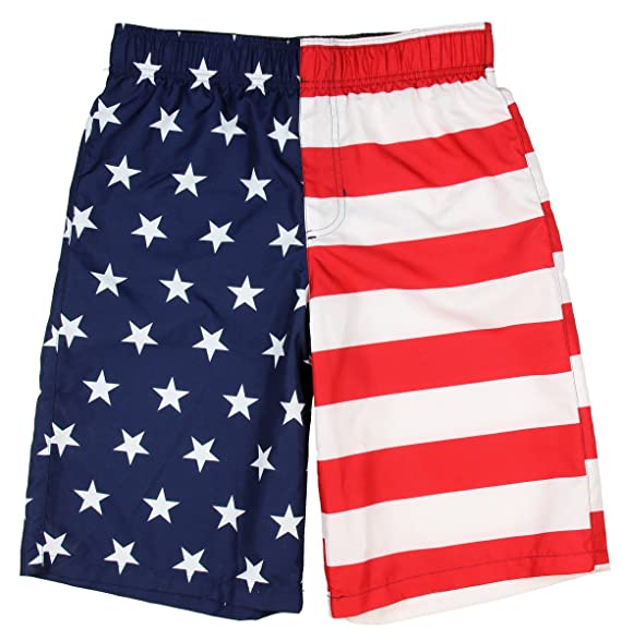 39840a4863a3 Amazon.com: Ocean Pacific Boys American Flag Swim Short - 2XL: Clothing
