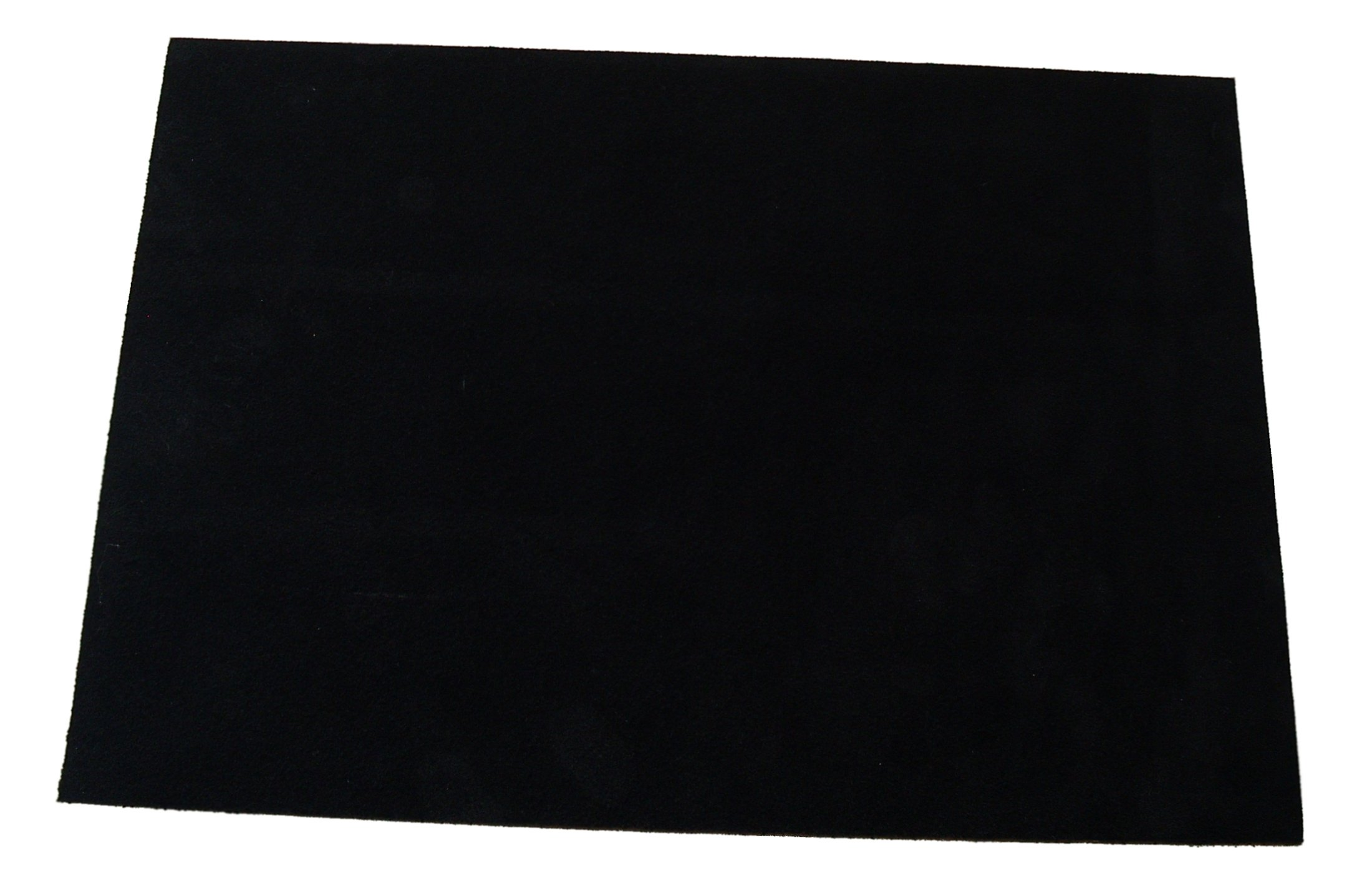 Premium quality suede sheets 8.5''x12'' with super-strong self-adhesive backing. Ideal for making peel-and-stick (self-stick, stick-on) soles for dance shoes, [SUEDE-DIY-black].