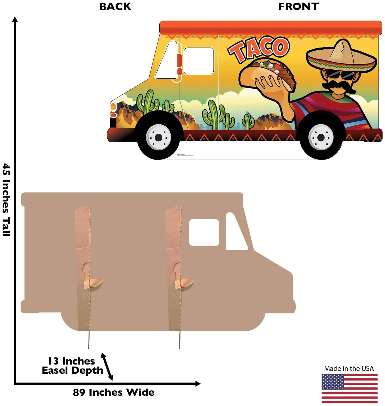 Advanced Graphics Taco Truck Stand-in Life Size Cardboard Cutout Standup