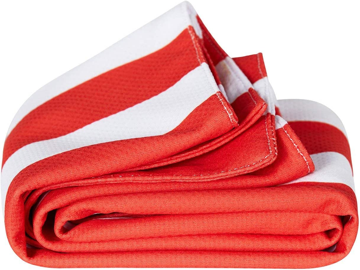 Instant Relief with Unique Dual Layered QuickCool Fabric Technology Dock /& Bay QuickCool Cooling Towel for Athletes