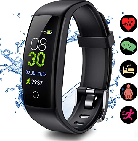 Outdoor Multi Functional Portable Fitness Tracker With Large LCD Display Green
