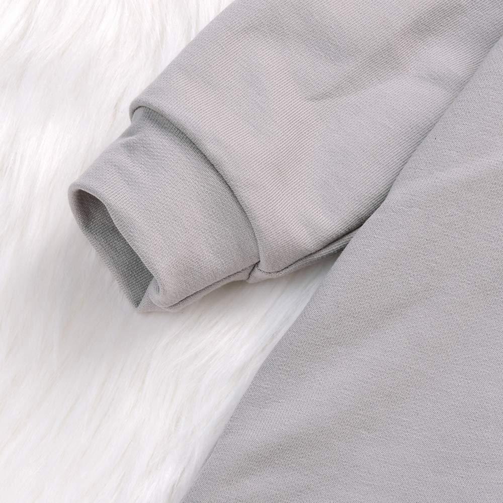 Beb/é Mamelucos con Capucha Outfits Abrigo Algod/ón Mono Manga Larga Ni/ñas Ropa Outwear Pijamas 0-18 Meses Patr/ón de Fresa