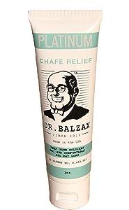 NEW!! Dr. Balzax Platinum Chafe Relief - Premium Anti-Chafing Anti-Friction Cream/Powder - USA Patent