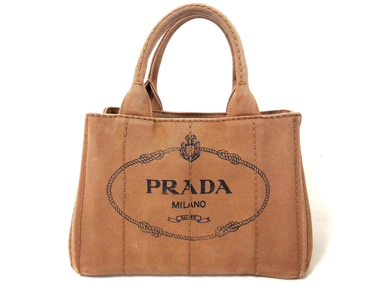 (プラダ) PRADA トートバッグ CANAPA ブラウン 1BG439 【中古】 B07DHNJGFJ