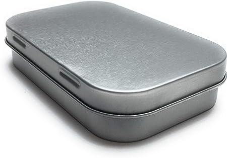 Balna - Caja de Metal pequeña con Tapa de bisagra, 9,4 x 5,9 x 2,0 cm, 24 Unidades: Amazon.es: Hogar