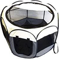 Companion Gear Portable Fabric, Water-Resistant Dog Play Pen - Perfect for Small to Medium Sized Dogs, Great for Travel, Indoor & Outdoor Use