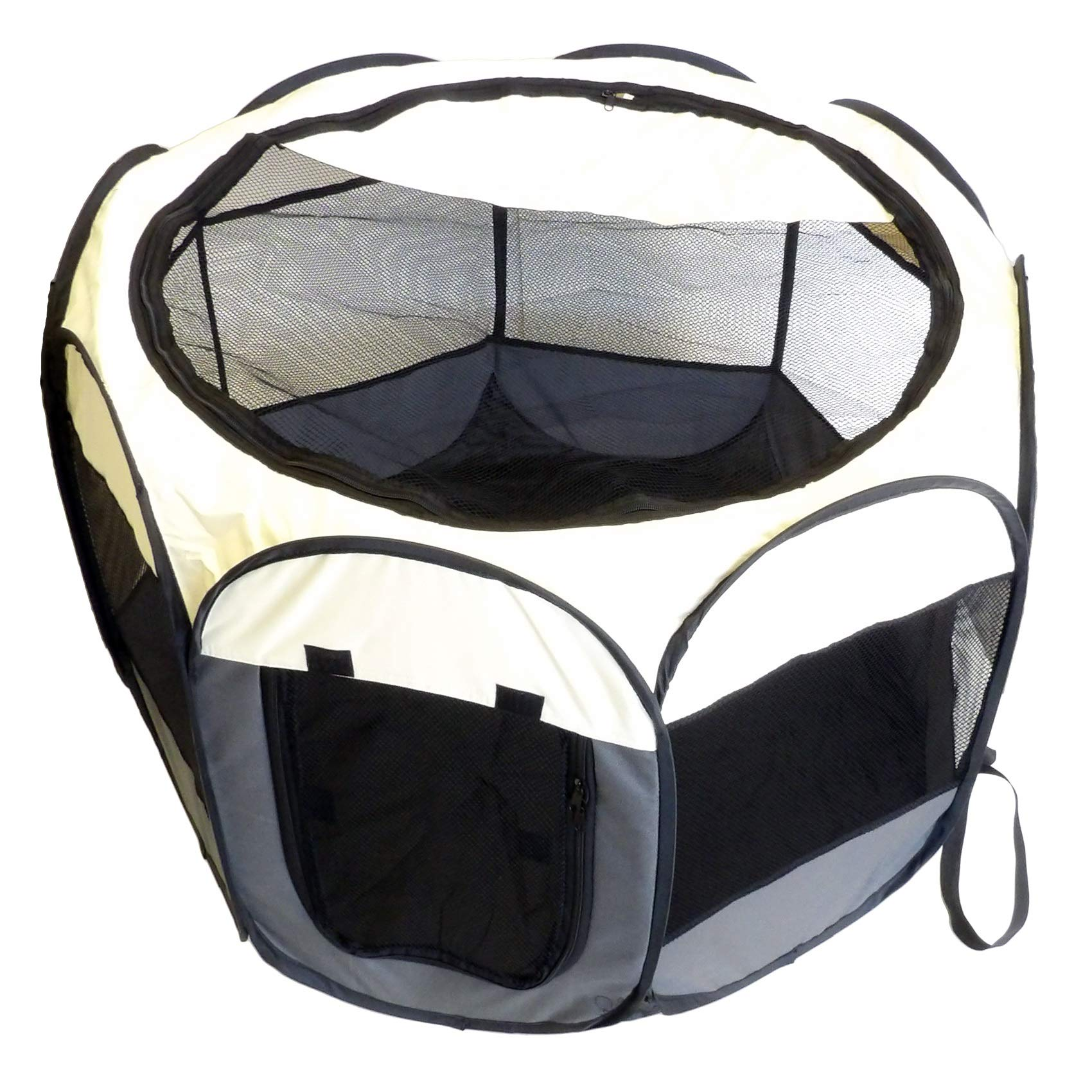 Companion Gear Portable Fabric, Water-Resistant Dog Play Pen - Perfect for Small to Medium Sized Dogs, Great for Travel, Indoor & Outdoor Use by Companion Gear