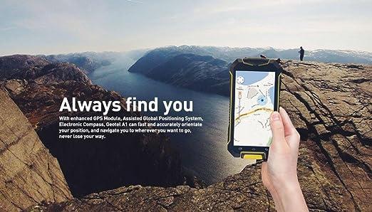 QHJ Dual SIM teléfono móvil para Exteriores (3400 mAh), Pantalla de 4,5 Pulgadas, 8 GB de Memoria, IP67, Resistente al Agua, antigolpes, Rugged, sin Contrato con lautem Altavoz, Armeegrün: Amazon.es: Deportes y