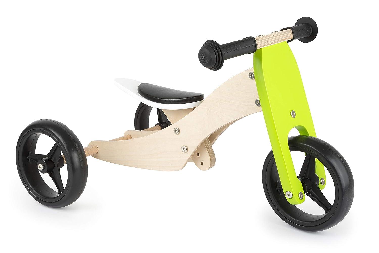 Small Foot Company - Triciclo Madera 2 en 1, Entrena el Sentido del Equilibrio y prepara a los niños fácilmente para Aprender a Andar en Bicicleta, con Asiento Ajustable y Ruedas de Goma Juguetes, Multicolor by Legler 11255 Small Foot by Legler