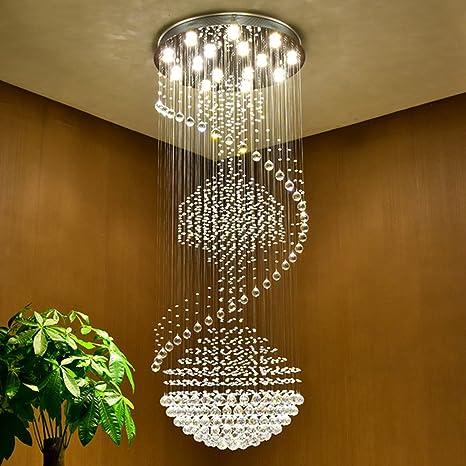Large Modern Chandelier Lighting For Vallkin Luxury Modern Large Big Stair Long Spiral Crystal Chandeliers Lighting Fixture For Staircase Rain Drop