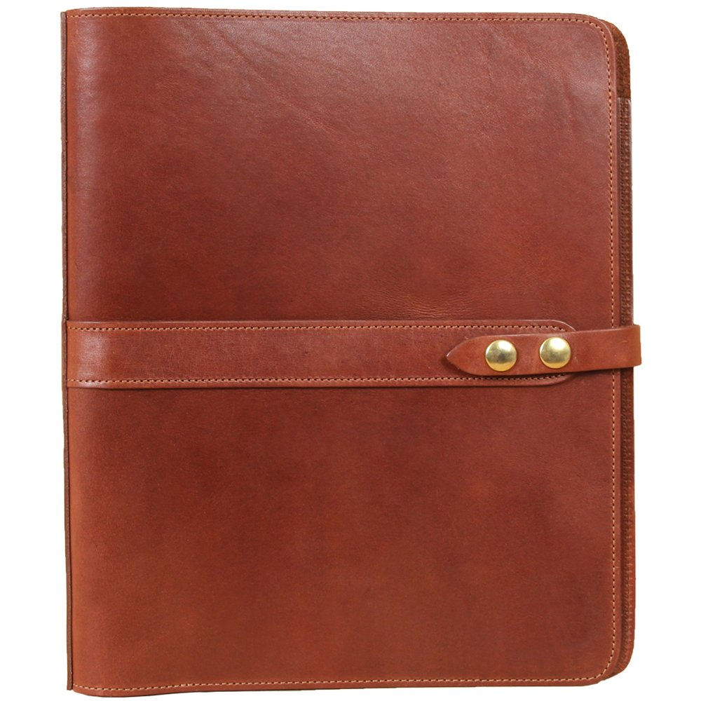 Leather Notebook One Inch Three Ring Binder Folder Brown USA Made No. 19