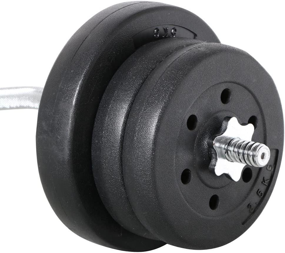 YAHEETECH Olympic Barbell-Dumbbell Weight Set